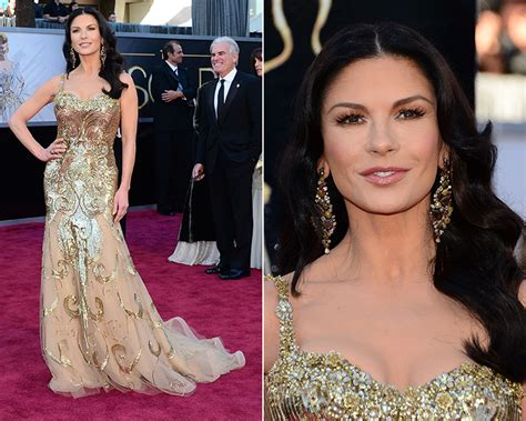 Catherine Zeta Jones In A Emanuel Ungaro Mini Dress At The No Reservations Premiere by Mini Cutxi Oscar 2013 Meus Looks Favoritos