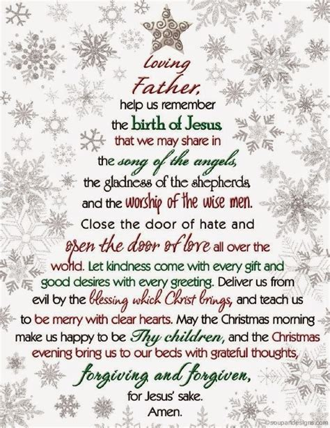 christmas prayer dear god help us remember the birth of