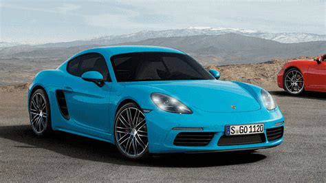 miami blue porsche 718 4 2s 350hp 2017 porsche 718 caymans revealed boosted