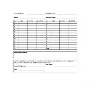 monthly timesheet template 15 download free documents