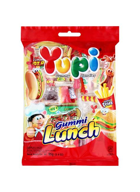 Jelly Chanelly Jelly Bag Cokelat yupi gummy lunch bag 95g klikindomaret