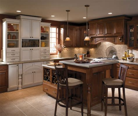 schrock kitchen cabinets two tone kitchen cabinets schrock cabinetry