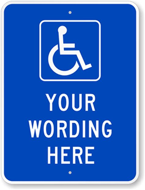 handicap parking sign template disabled parking signs