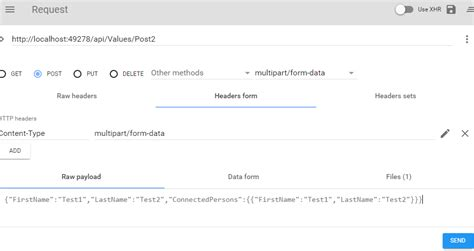 quiz questions json c webapi multipart formdata to accept images and json