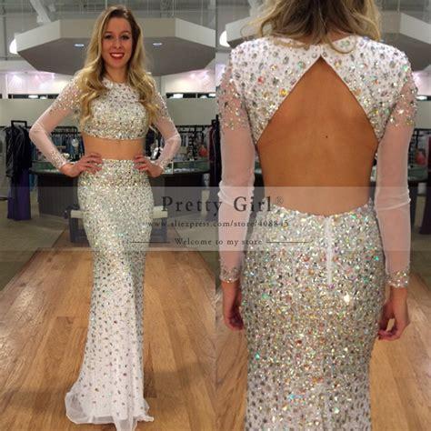 Aliexpress.com : Buy 2015 Sexy Black Long Mermaid Prom Dresses Sheer Scoop Appliques Backless
