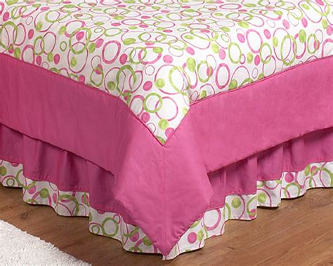 pink bed skirt full circles pink full queen bed skirt 59 x 80 x 14 5 drop