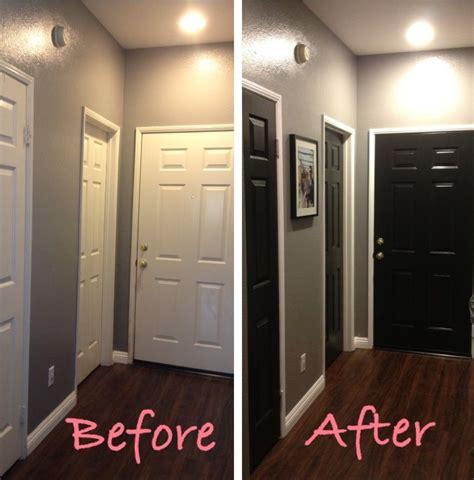 hallway makeover part 2 black doors hamonious