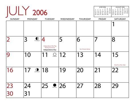 August 2006 Calendar Yuma 2006 Calendar