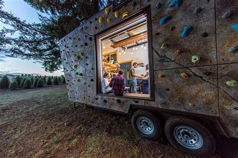 heirloom tiny house 171 inhabitat green design innovation rock climbing walls cover this tiny home built for