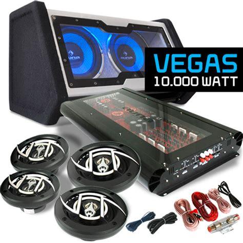 Paket Pandora 3 4 Speaker Pioneer Subwoofer Slim car hifi set quot vegas quot 4 1 10 000wmax lautsprecher bass