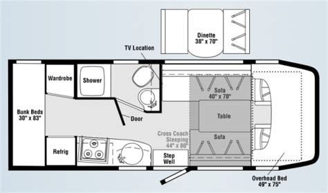 sprinter rv floor plans view navion sprinter wiki