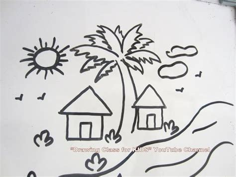 Drawing 1 Class by How To Draw Diy Easy Scenery Drawing Step By Step