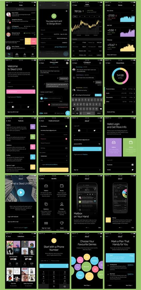 mobile ui themes sked mobile ui kit by kkuistore themeforest