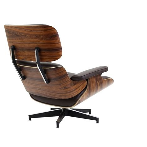 Eames Style Lounge Chair And Ottoman Brown Leather Walnut Eames Leather Chair And Ottoman