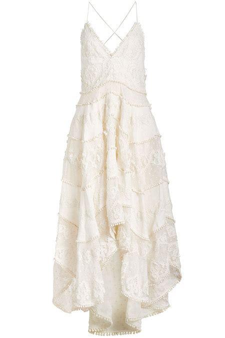 Painted Rhea Midi Dress painted sun midi dress with lace zimmermann de stylebop