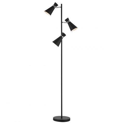 contemporary matte black  chrome  light floor lamp