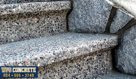 Concrete Countertops Winnipeg by Exposed Aggregate Concrete Contractor Winnipeg Manitoba