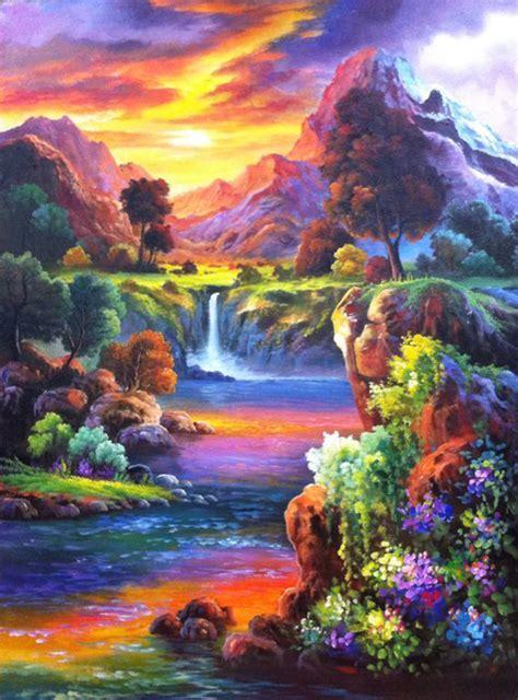 acrylic paint on canvas landscape acrylic painting on canvas landscape beatiful landscape