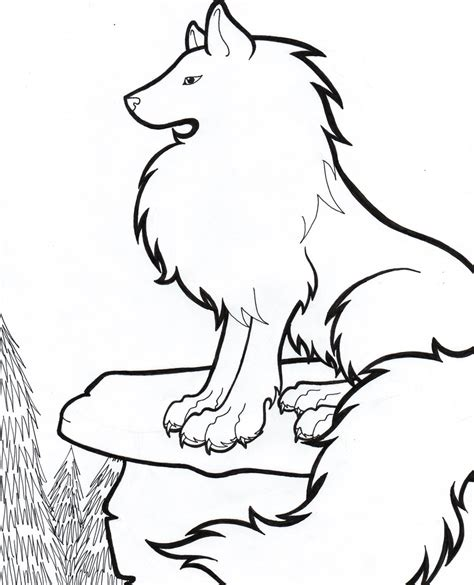 Simple Wolfis M easy wolf drawing clipart best