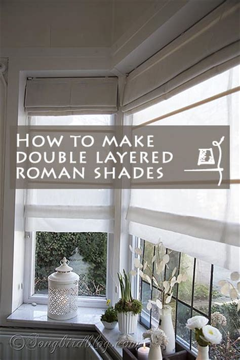 double layered roman blinds