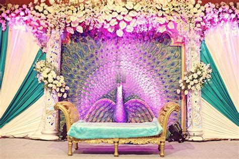 indian home decoration ideas peacock inspired indian wedding decor fullonwedding