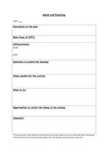eyfs led planning sheet by cbgb teaching