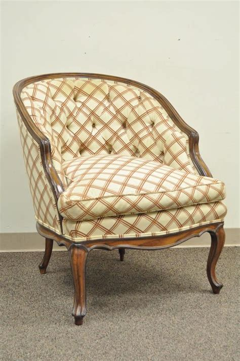 barrel style back chair vintage country louis xv style barrel back bergere