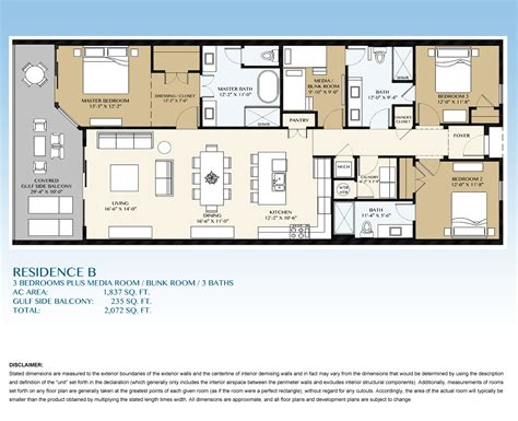 Kitchen Island With Seating For Sale by Residence B Floorplan Condos For Sale Blu Condos