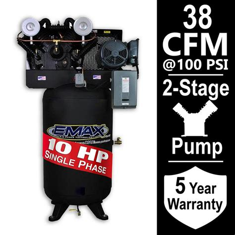 10 hp air compressor specification husky 80 gal 3 cylinder single stage electric air