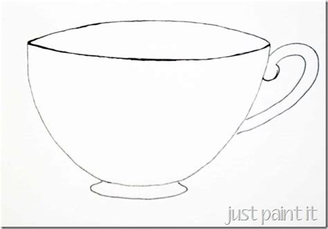 tea cup template sketching a simple teacup just paint it