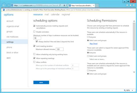 room mailbox permissions how to install configure and manage the mailbox in microsoft exchange server 2013