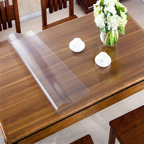 Dining Table Cover Protector Rectangle Oilproof Table Cover Clear Matte Pvc Tablecloth Desk Protector Cloth Placemat 1 5mm
