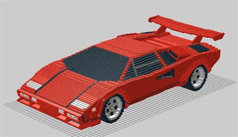 Lego Lamborghini Countach by Lego Lamborghini Countach Lp500 Picture To Pin On