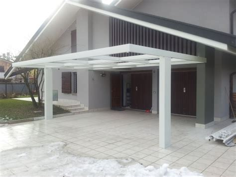 progetto tettoia tettoia in ferro idee di design per la casa