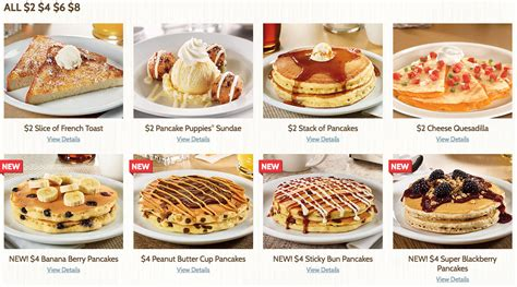 Denny S Gift Card Balance - denny s 2 4 6 8 menu including 4 all you can eat pancakes cha ching queen