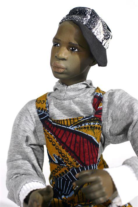 black doll artists black boy no 3 porcelain one of a finished doll