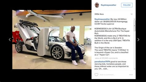 koenigsegg ccxr trevita mayweather floyd money mayweather buys a 4 8 million koenigsegg