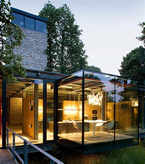 modern glass house the floating glass house near krakow poland 7 pics