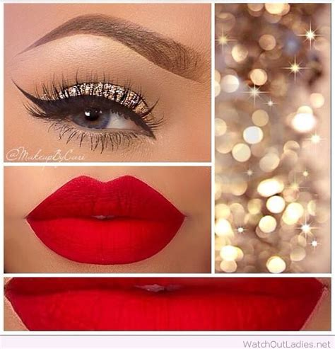 gold and red holiday makeup looks watch out ladies