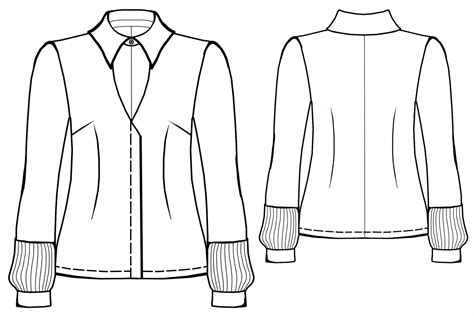 drawing blouse pattern blouse sewing pattern 5563 made to measure sewing