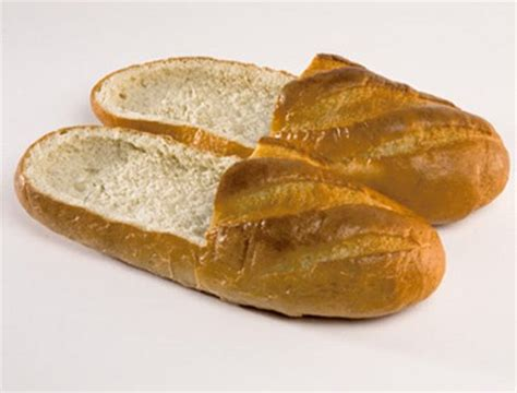 food slippers food for thought your bread shoes geekologie