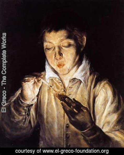 el greco fallacy wikipedia el greco the complete works a boy blowing on an ember to light a candle sopl 243 n 1570 72