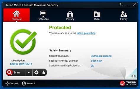 Trend Micro Titanium Security trend micro titanium maximum security 2013 review rating pcmag