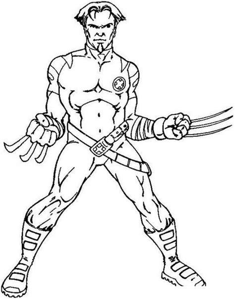 imagenes de wolverine inmortal para colorear dibujo de wolverine con garras para pintar y colorear