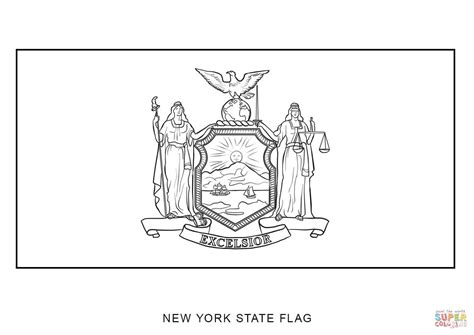coloring book new york flag of new york coloring page free printable coloring pages