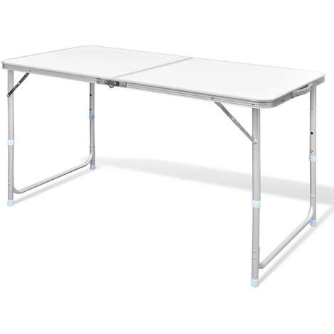 foldable table adjustable height foldable cing table height adjustable aluminium 120 x 60 cm
