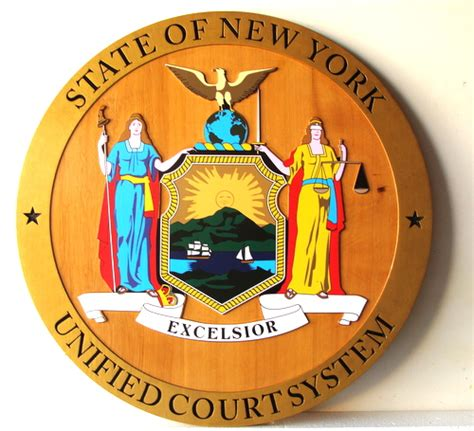 New York State Unified Court System Search Attorney Office And Courtroom Carved Wood Signs