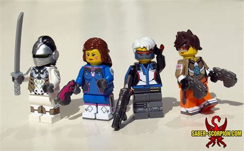 New Ow Overwatch Tracer Pharah Soldier 76 Figure Gift lego overwatch genji d va soldier 76 and tracer by saber scorpion on deviantart