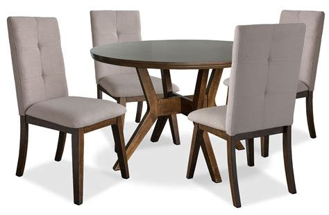 Dining Table Packages Chelsea 5 Dining Table Package With Beige Chairs The Brick