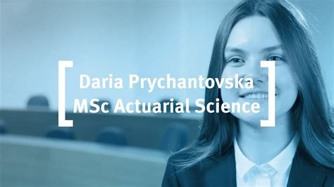Mba After Actuarial Science by Cass Business School Prychantovska Msc Actuarial